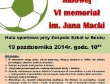 Turniej piłki halowej - VI memoriał im. Jana Macki