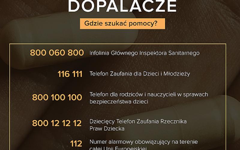 Ulotka - numery telefonów